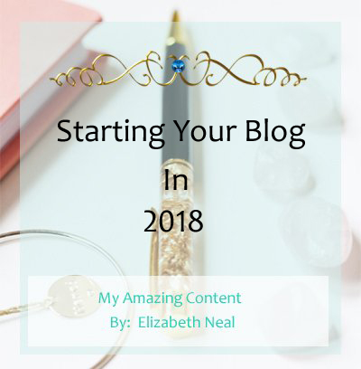 Start Your Blog In 2018!
